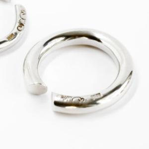 Chubby ring mellan silver